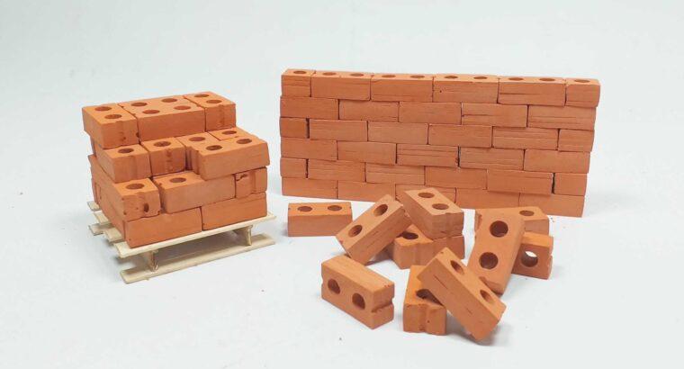 بلوك أجر مصغر للمجسمات الهندسية