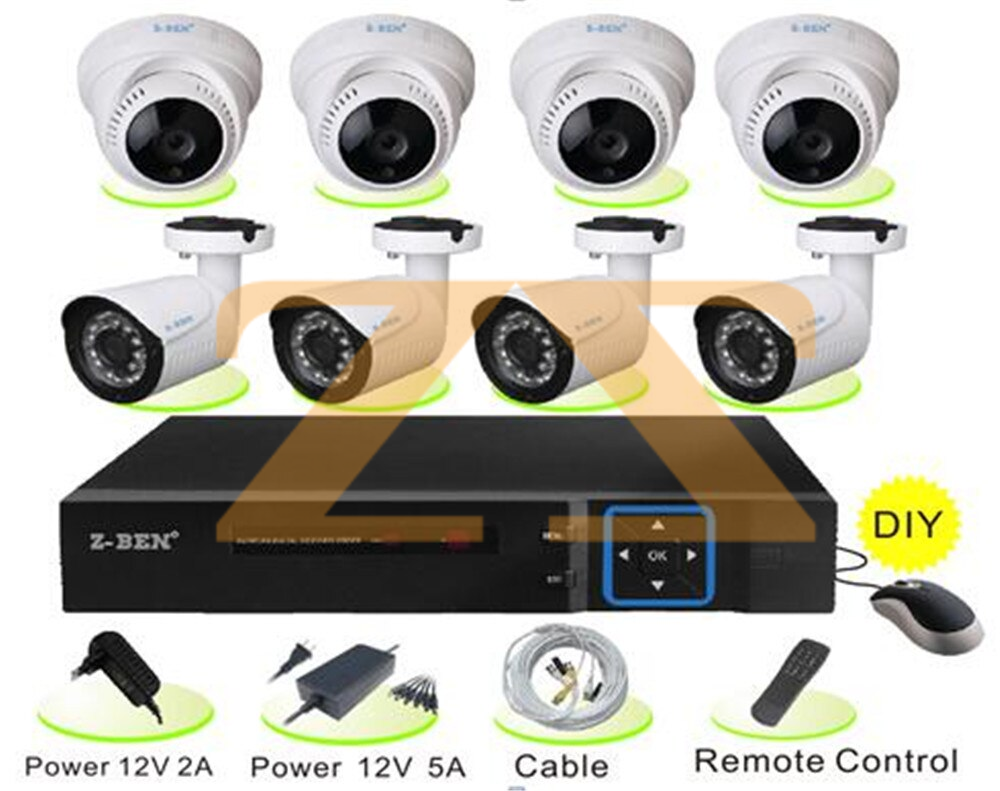 مجموعة كاميرات مراقبة عدد 8