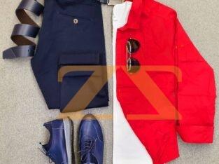 بنطال و قميص و حذاء و حزام