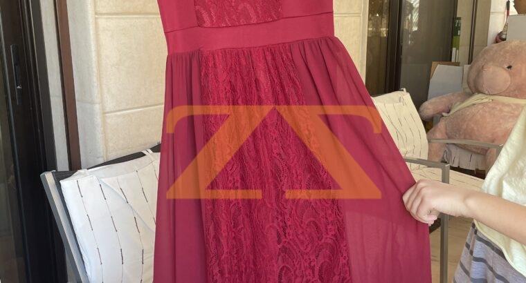 فستان سهره احمر طويل