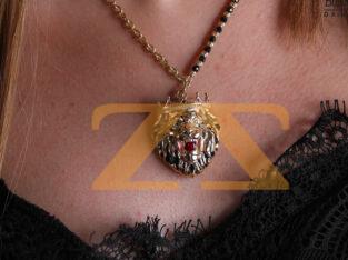 طوق بتعليقة نمر من مجوهرات الخياط