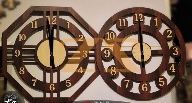 ساعات حائط من الخشب