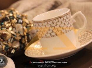 فنجان قهوة مذهب