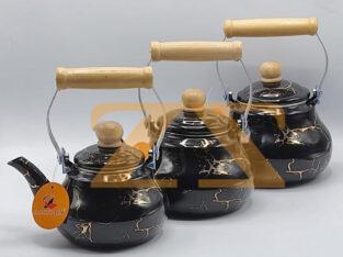 طقم اباريق شاي مرخمة ثلاثة احجام