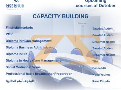 Upcoming courses of October at RISERHUB
